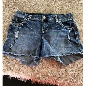 Maurice's Distressed Jean Shorts Size 14